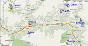 Aosta hidden resorts